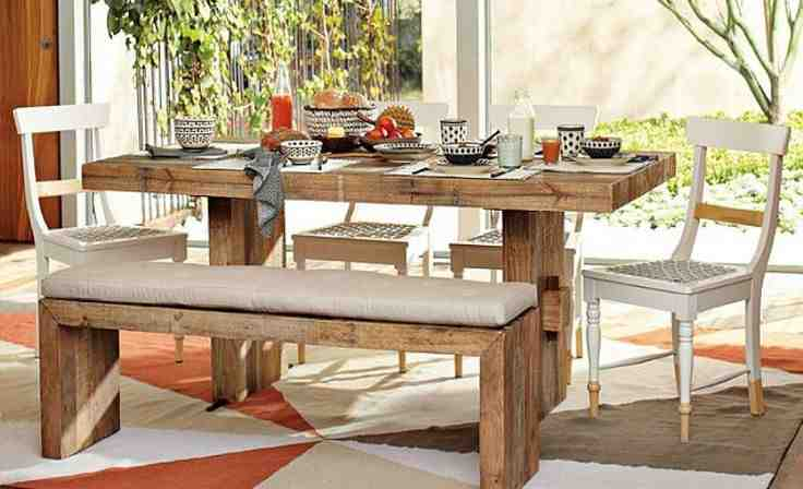 Kitchen Table with Bench Seat and Chairs