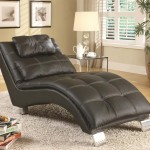 Leather Chaise Lounge Chair