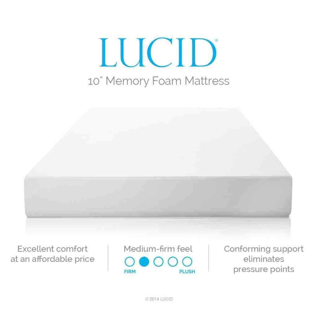 Lucid 10 Memory Foam Mattress