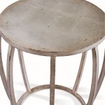 Round Drum End Table