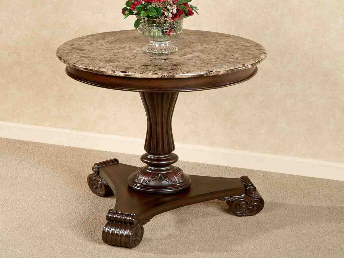 Round Marble Top End Table Decor Ideasdecor Ideas