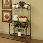 Bakers Rack With Wine Glass Holder
