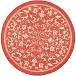 Round Red Area Rug