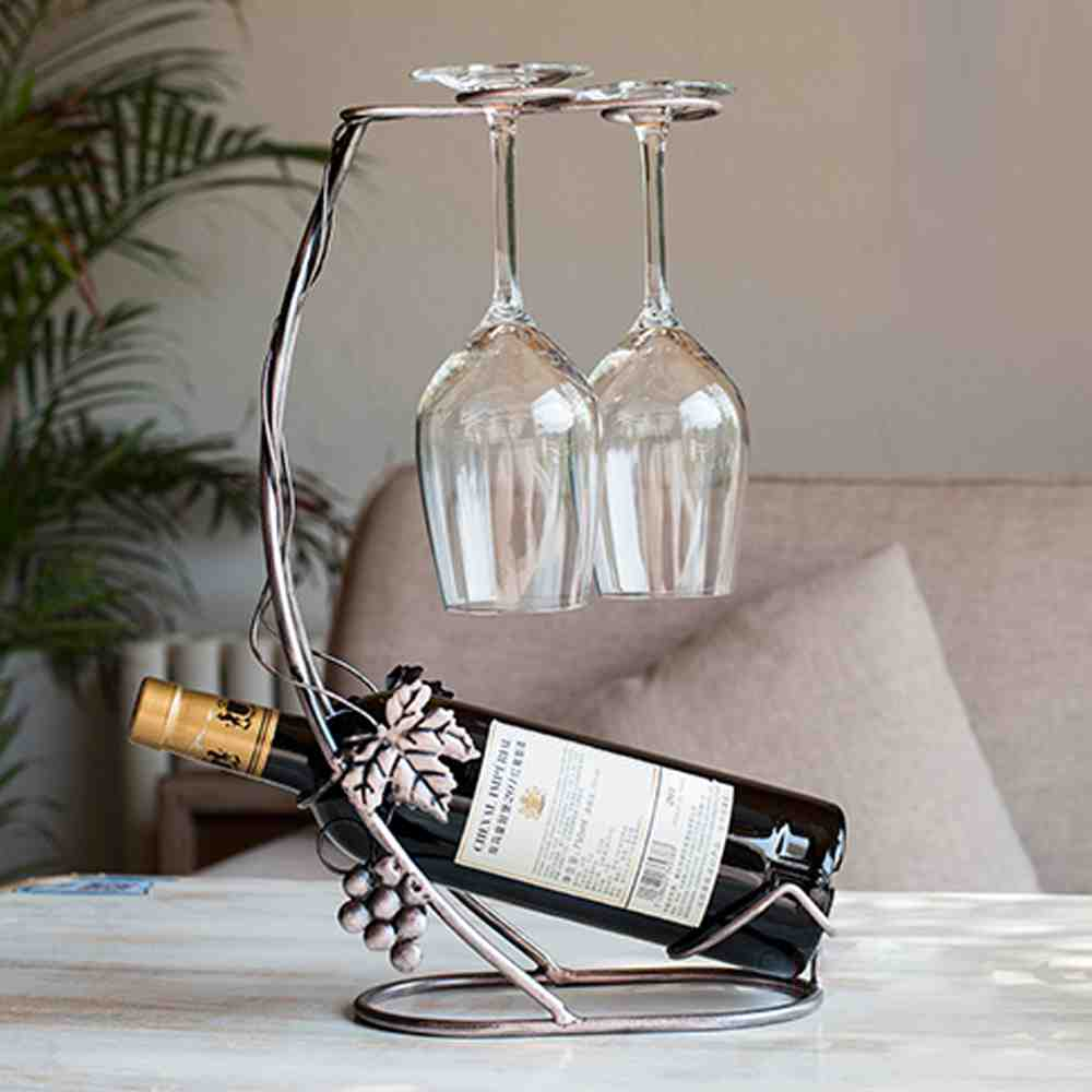 Wine Bottle And Glass Rack