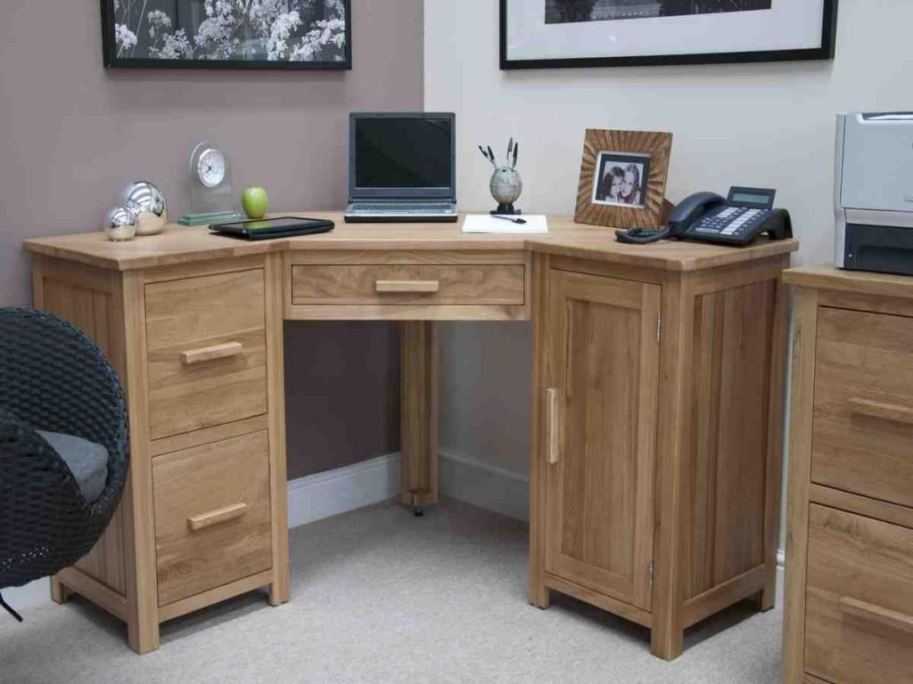 Wood Corner Computer Desk