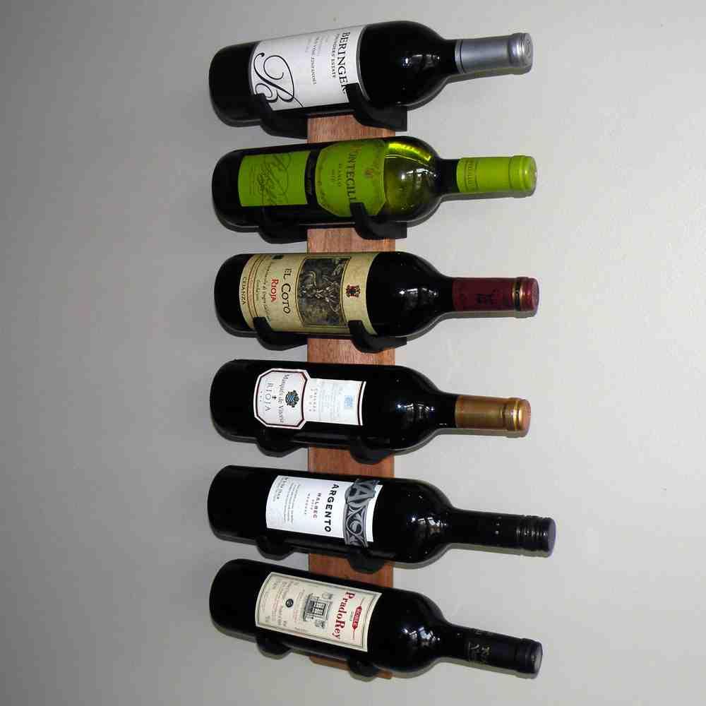 Wooden Wall Wine Rack