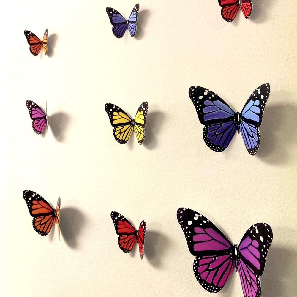 Diy 3d Butterfly Wall Decor