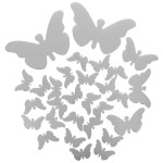 Silver Butterfly Wall Decor