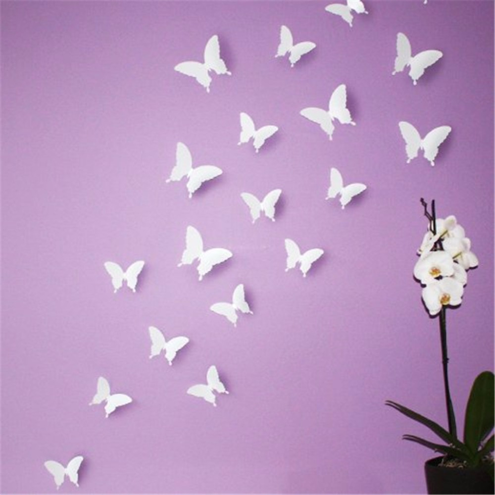White Butterfly Wall Decor