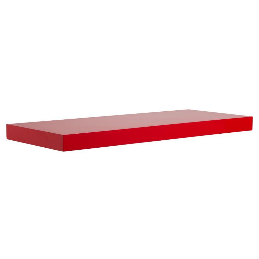 Red Floating Shelves