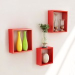 Wall Mounted Cube Shelves