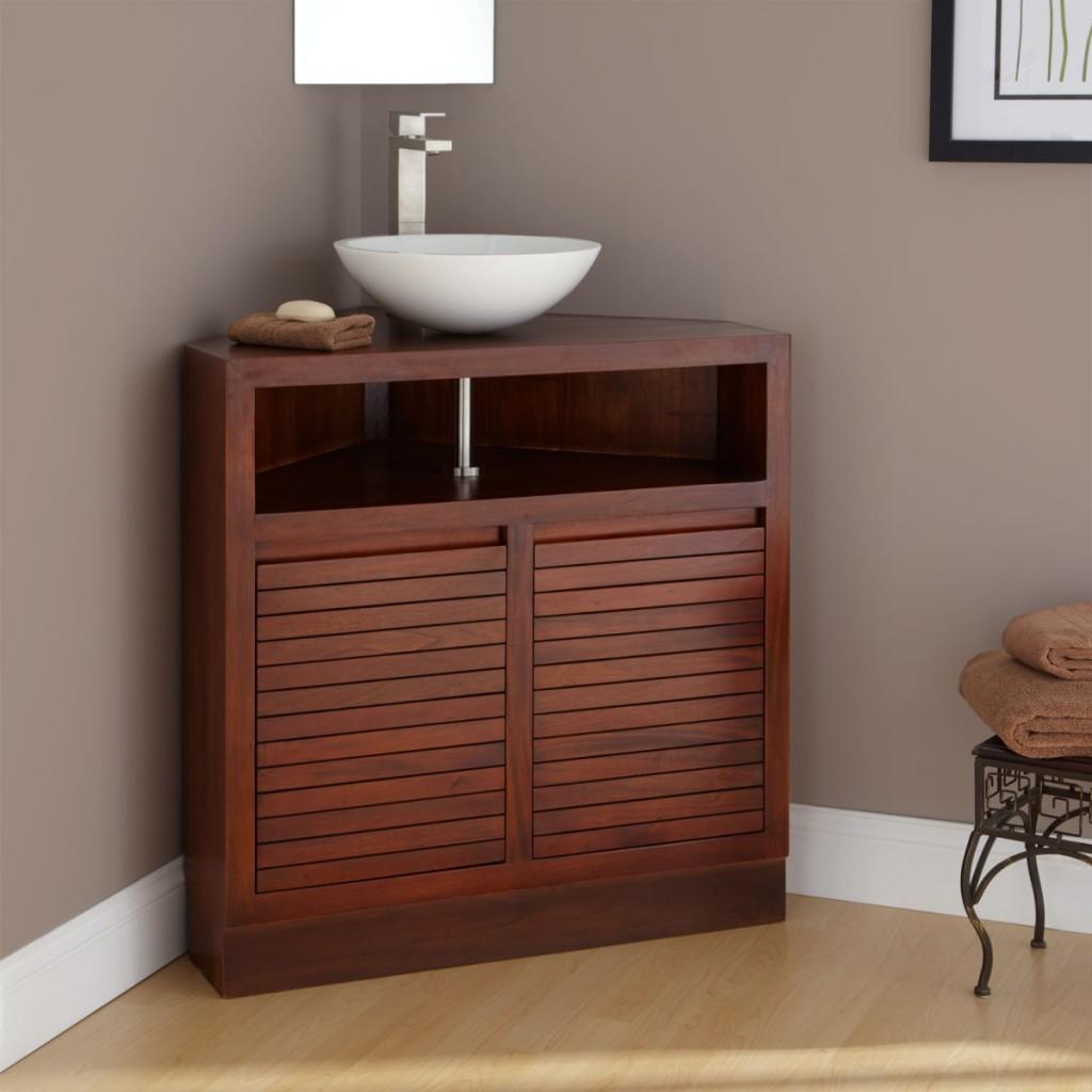 Wooden Corner Shelves
