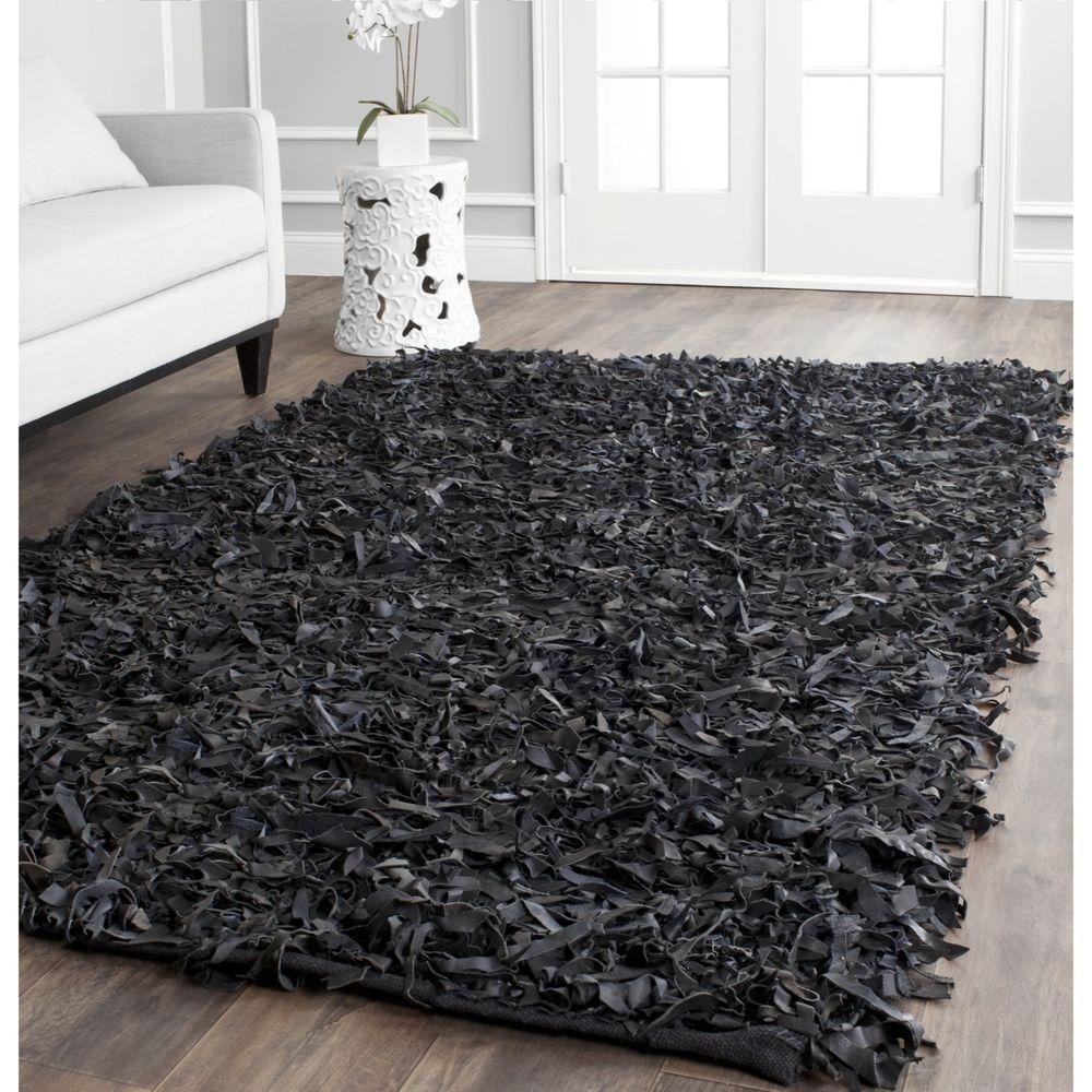 Large Black Area Rug