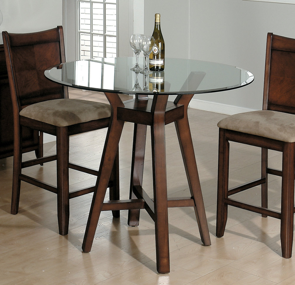 42 Glass Top Dining Table