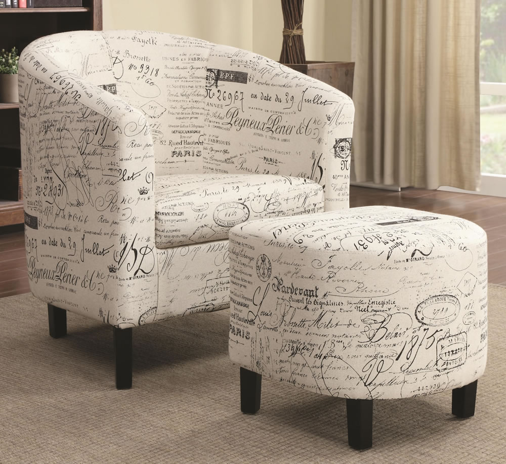 Accent Chair And Ottoman Set