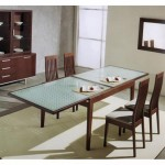 Extendable Glass Top Dining Table