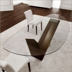 Oval Glass Top Dining Table