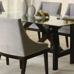 Rectangle Glass Top Dining Table