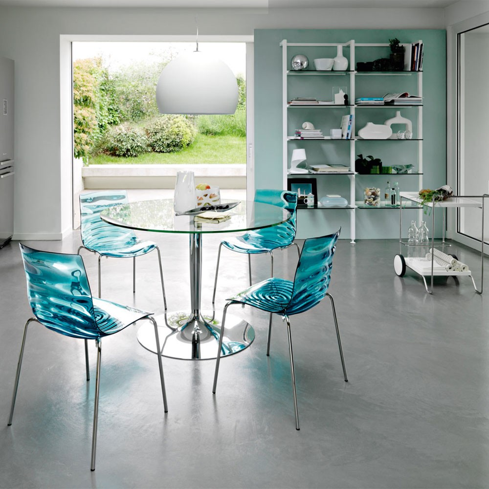 Round Glass Top Dining Table Metal Base