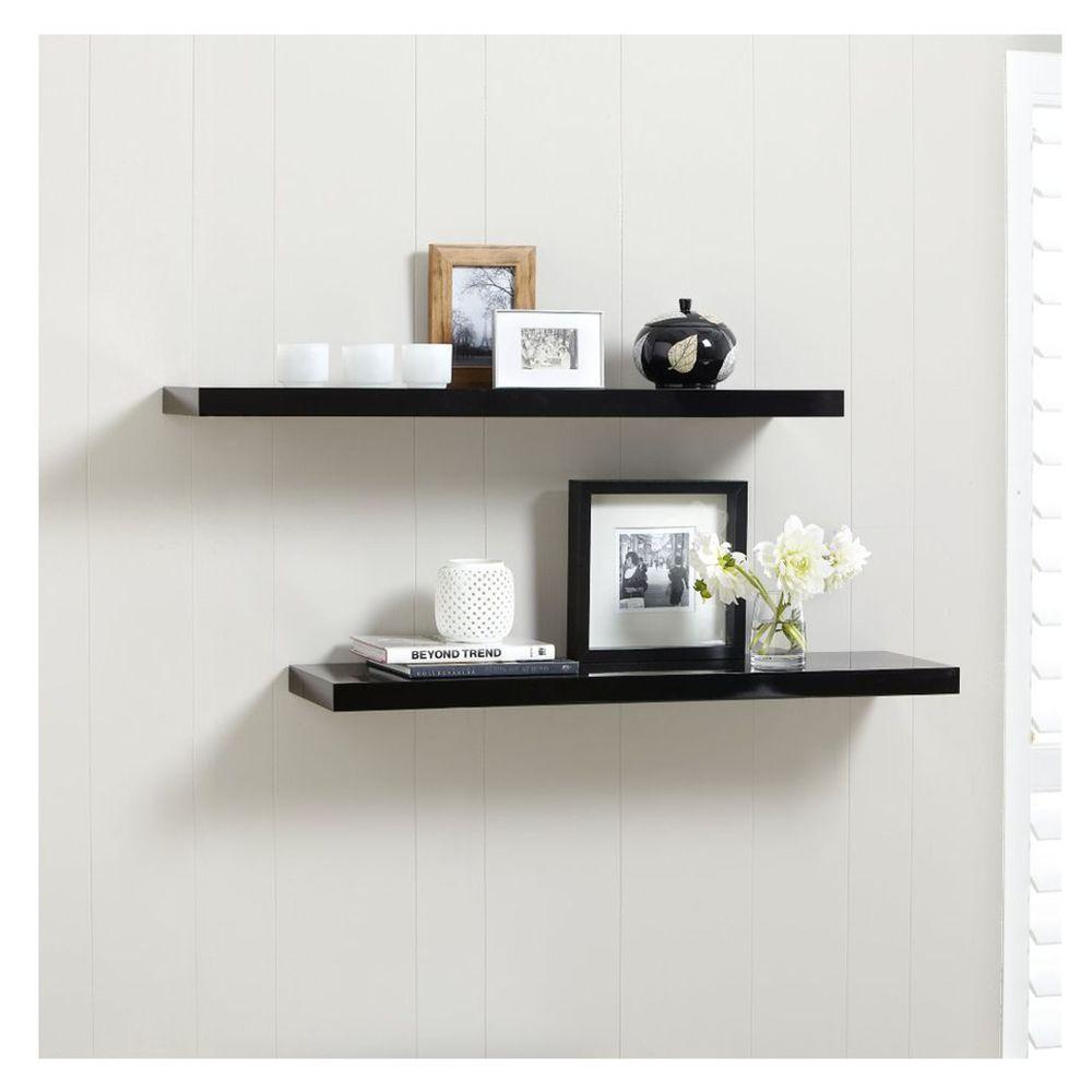 Black Floating Shelves