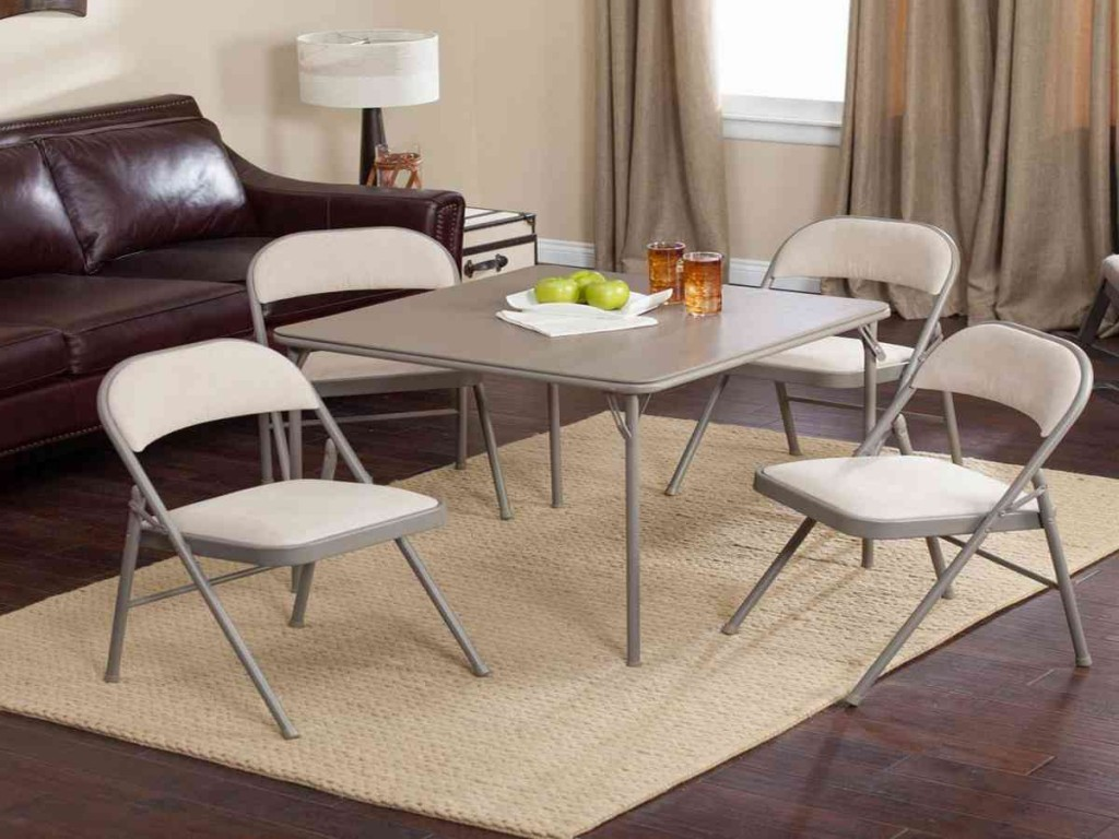 5 Piece Folding Table And Chair Set