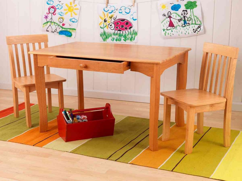 Kidkraft Avalon Table And Chair Set Natural 26621