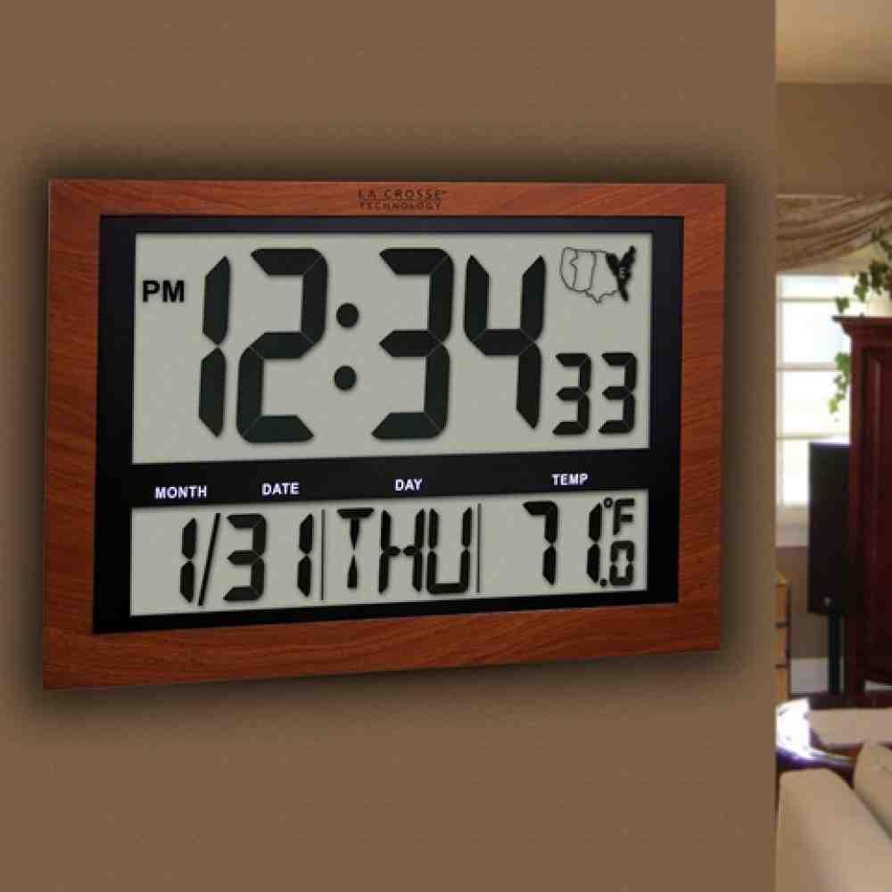 Atomic Digital Wall Clock Large Display Decor Ideasdecor