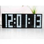 Backlit Digital Wall Clock