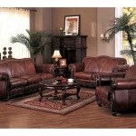 Brown Leather Living Room Set