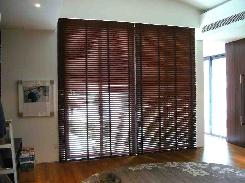 Dark Bamboo Blinds