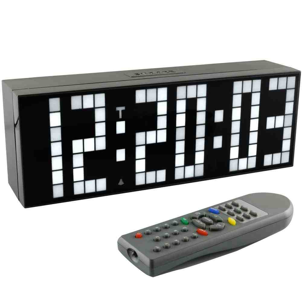 Digital Wall Clock with Seconds Display