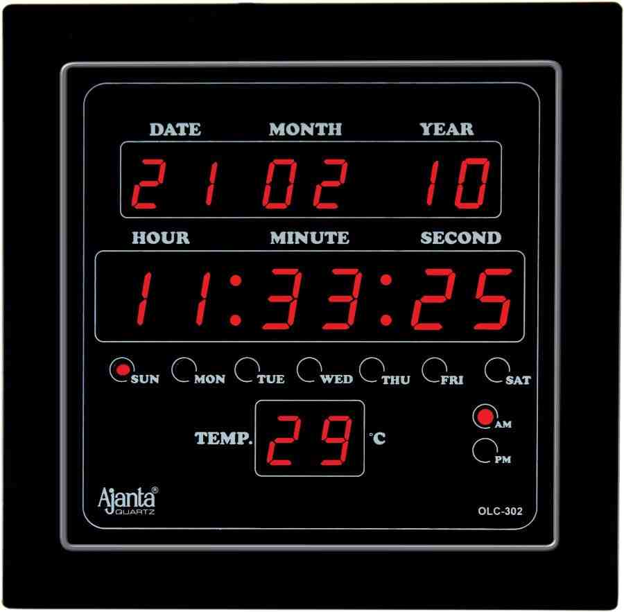 Digital Wall Clock with Seconds