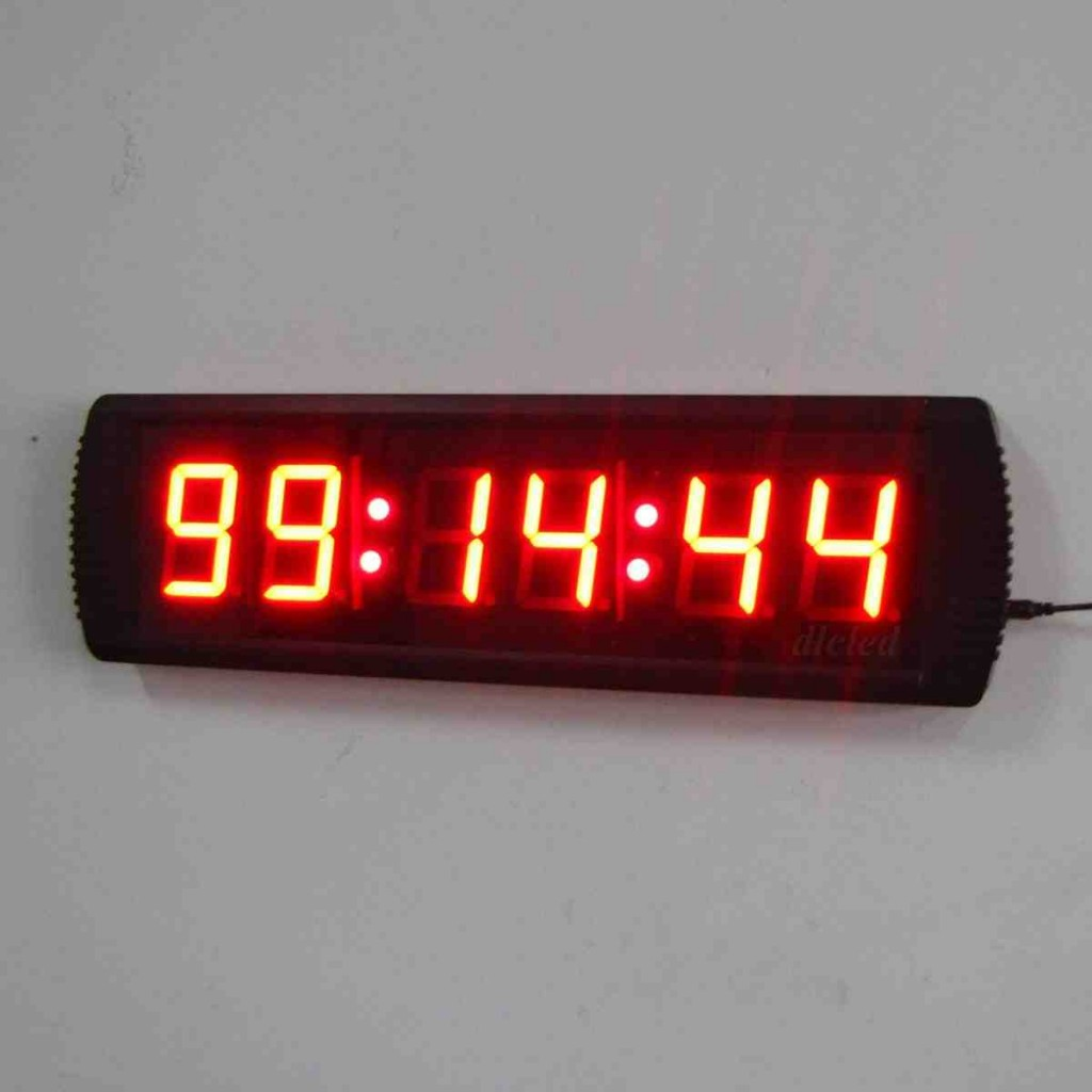 Large Digital Wall Clock with Seconds
