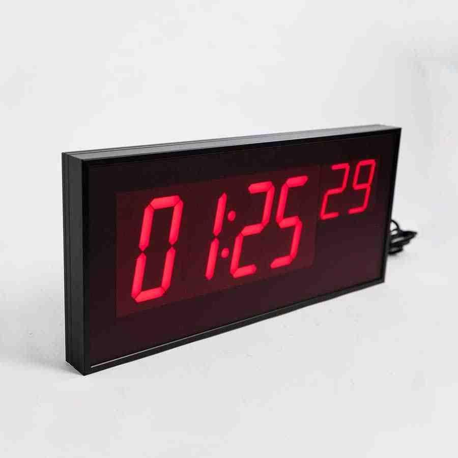 Red Digital Wall Clock