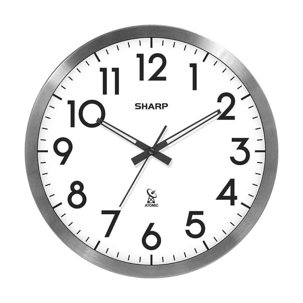 Sharp Digital Atomic Wall Clock
