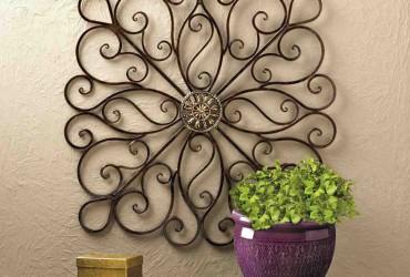 wrought iron wall decor