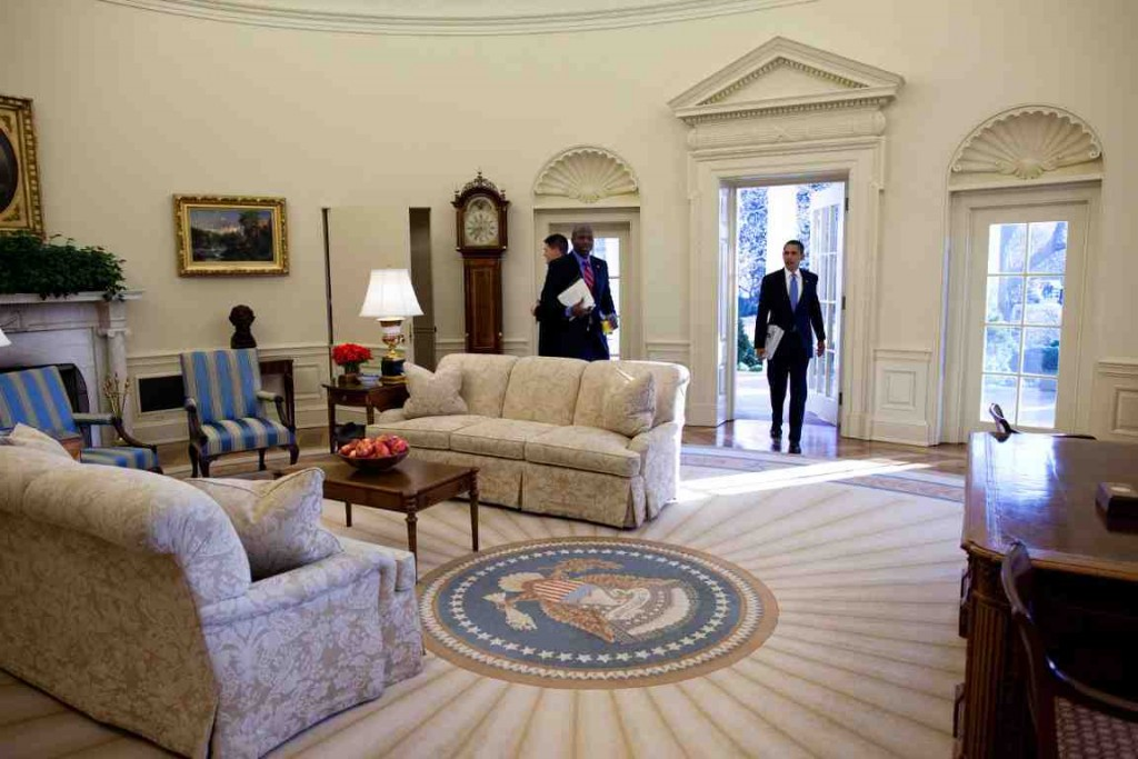 Obama Oval Office Decor