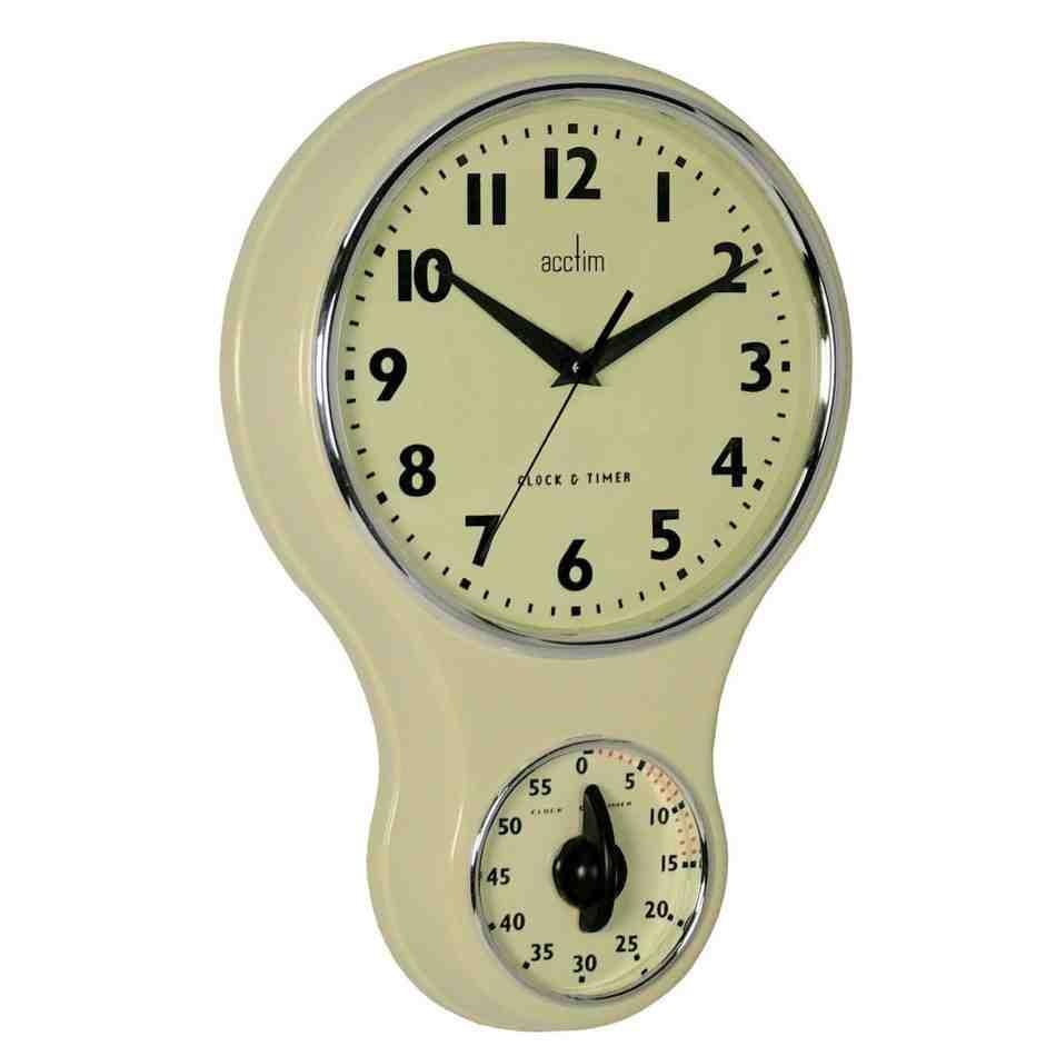 Retro Kitchen Wall Clock