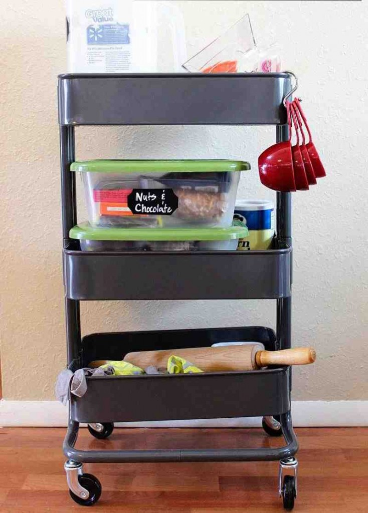 Rolling Pantry Shelves