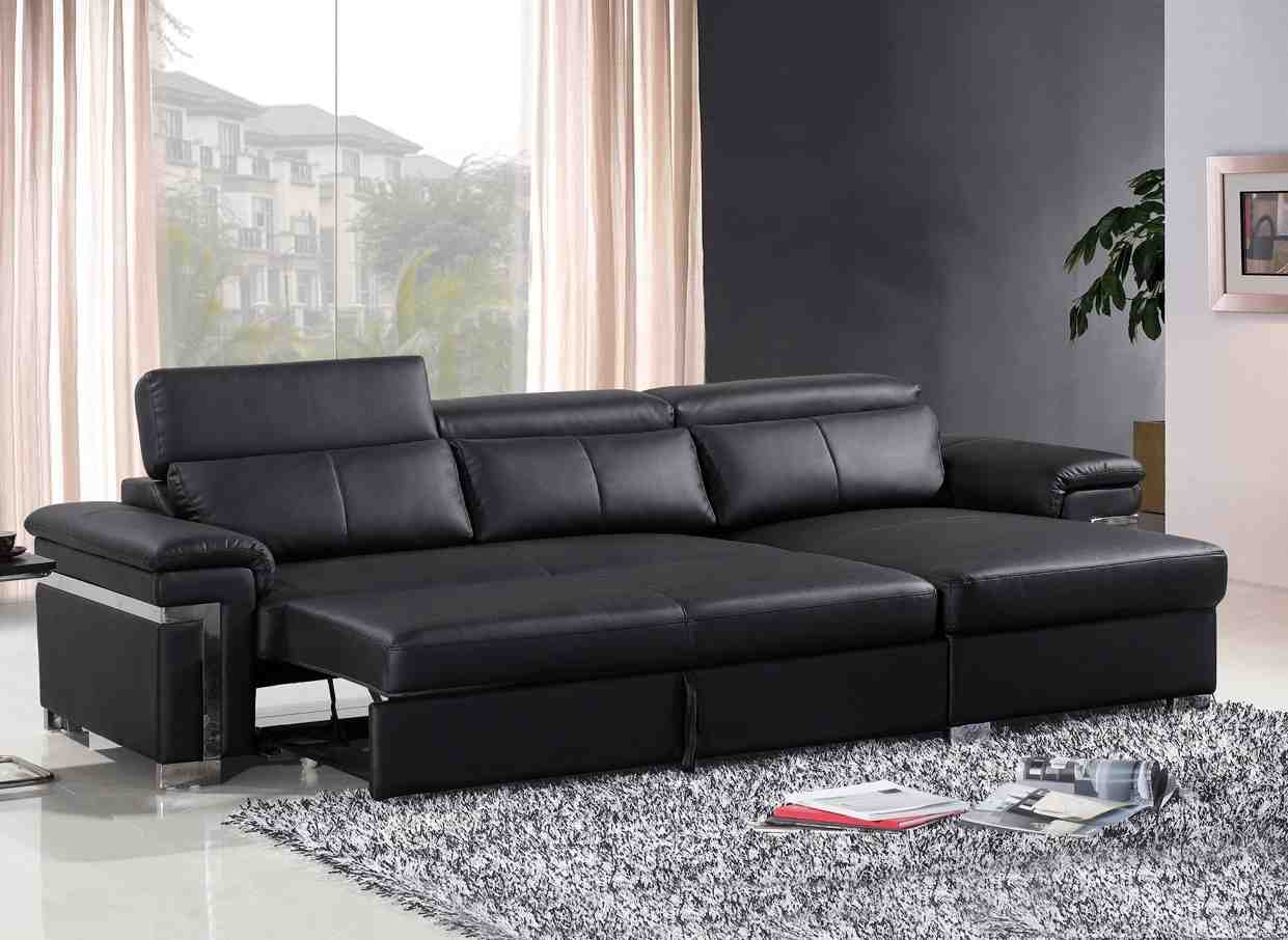 3 Seater Black Leather Sofa - Decor IdeasDecor Ideas