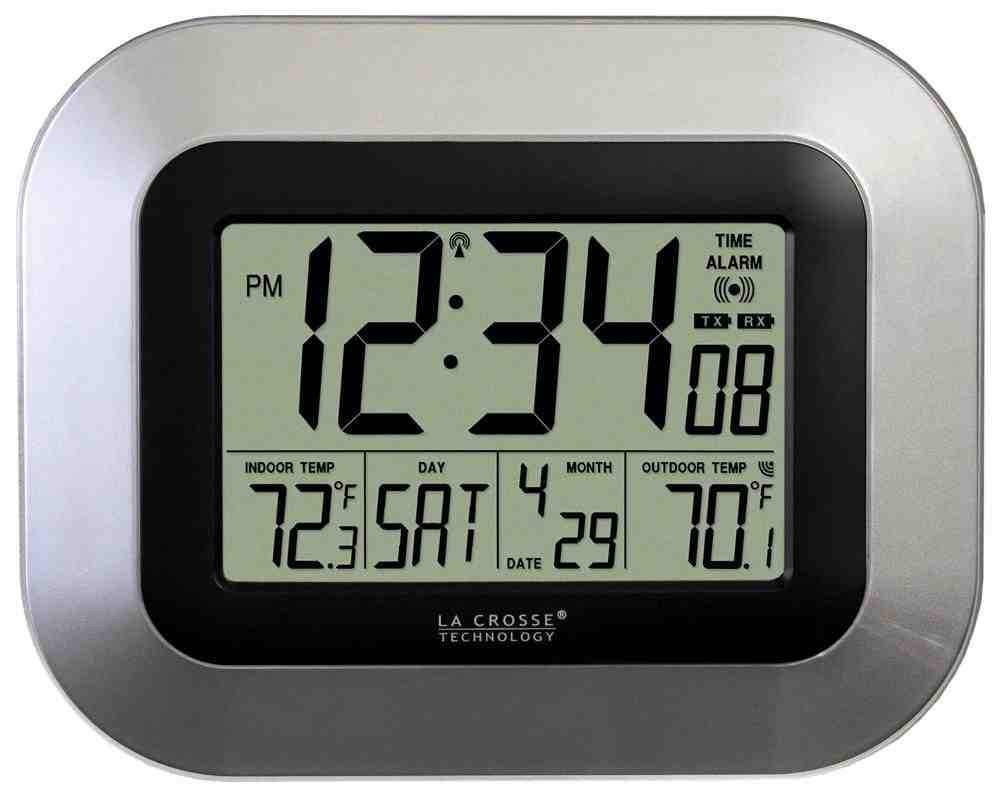 Atomic Wall Clock with Outdoor Temperature