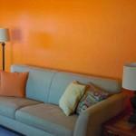 Orange Living Room Walls