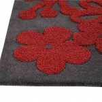 Red and Grey Area Rugs