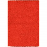 Solid Red Area Rug