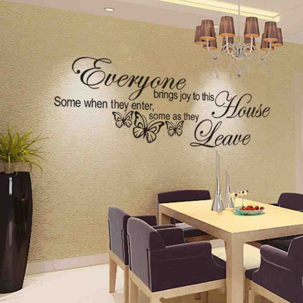 16 Enticing Wall Decorating Ideas For Your Living Room: Wall Decal Quotes For Living Room