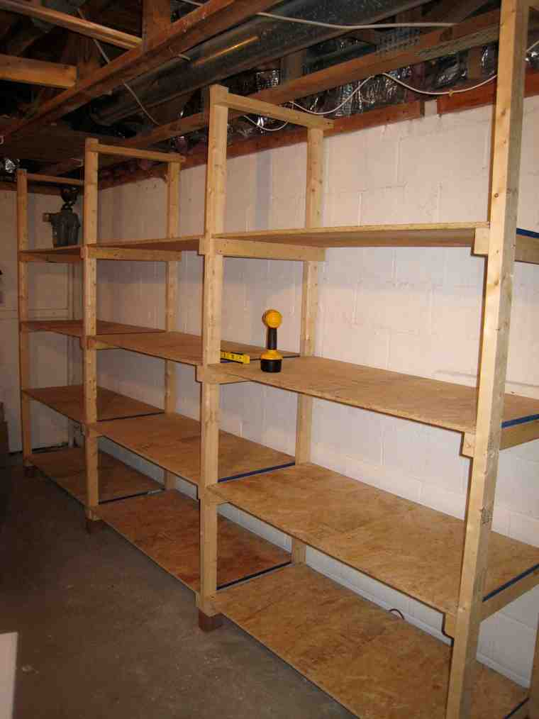 Basement Storage Shelving