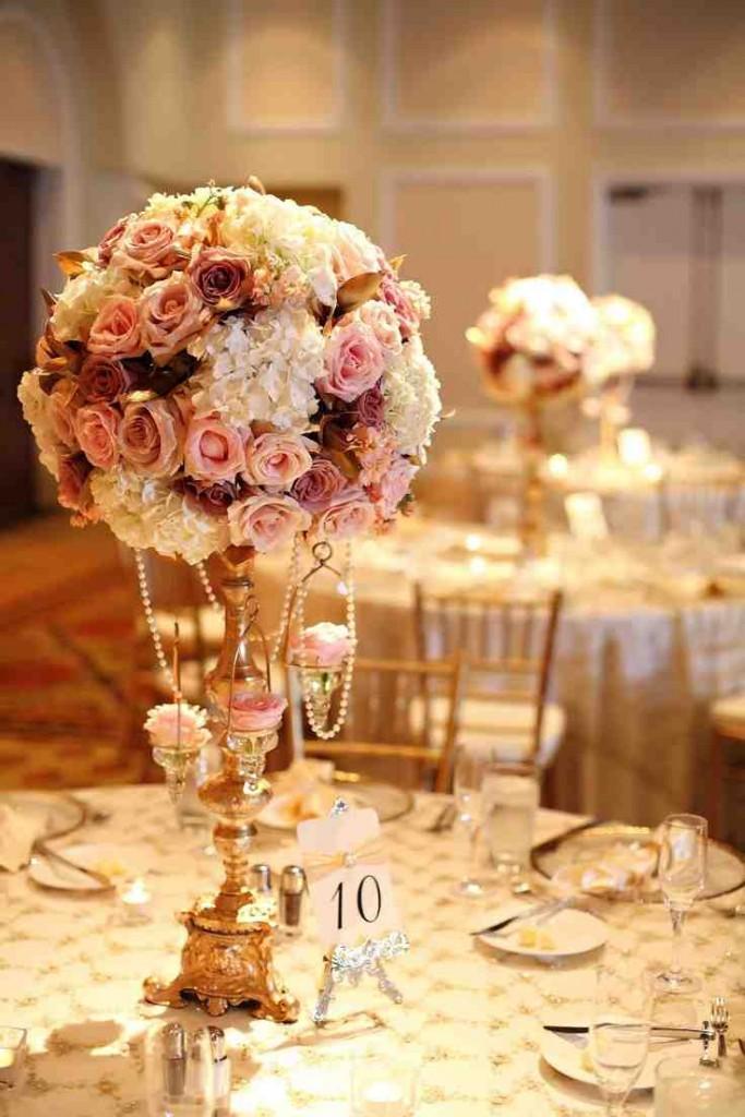 Candelabra Flower Arrangements