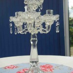 Glass Candelabra