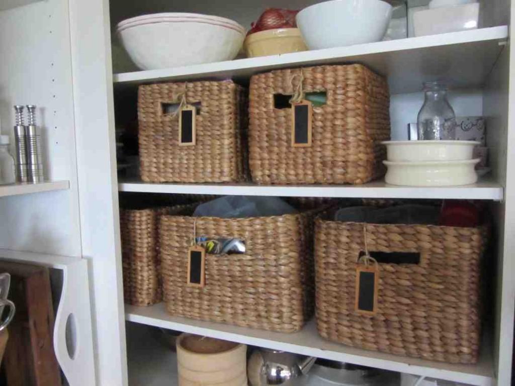 Large Storage Baskets for Shelves