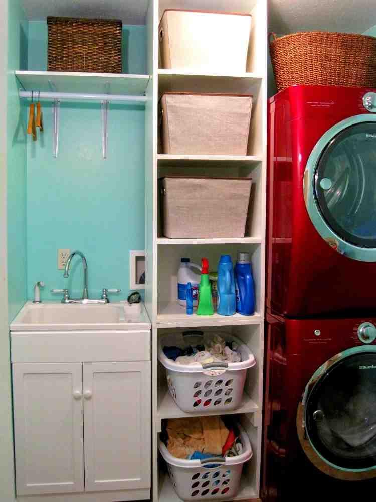 Laundry Closet Shelving